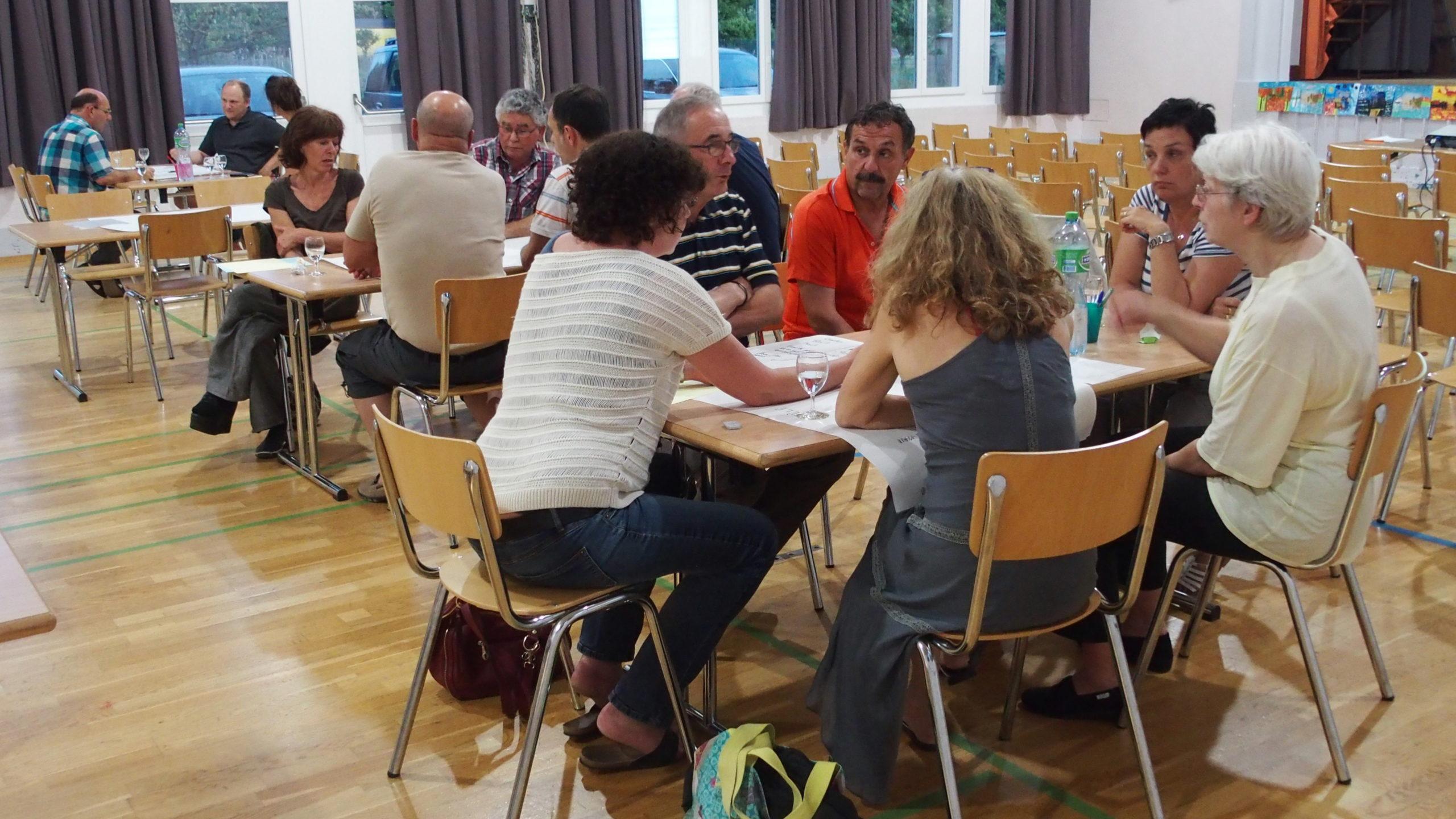 1ère soirée participative avec la population de Bavois